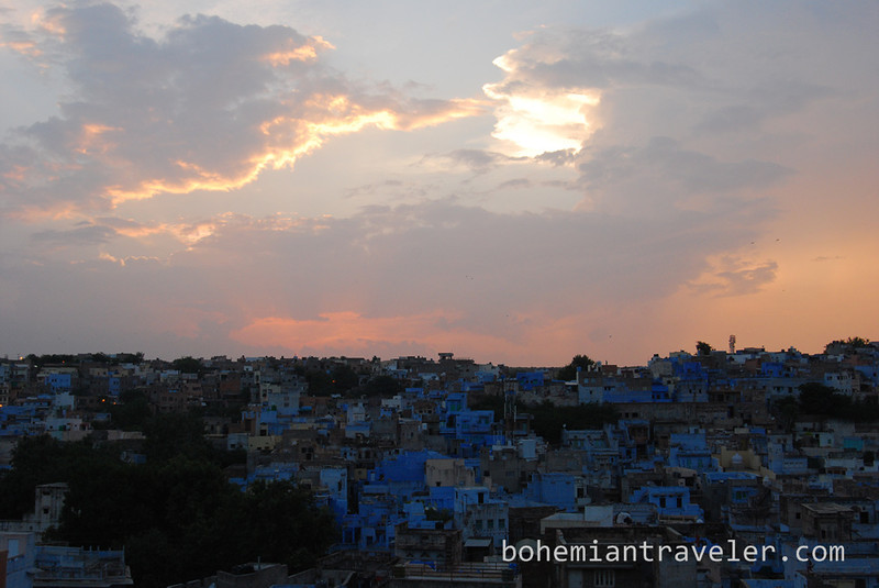View of the Blue City of Jodhpur at dusk (3).jpg