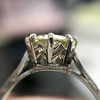2.03ct Art Deco Transitional Cut Diamond Solitaire 8