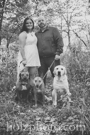 Amanda & Chris B/W Engagement Photos