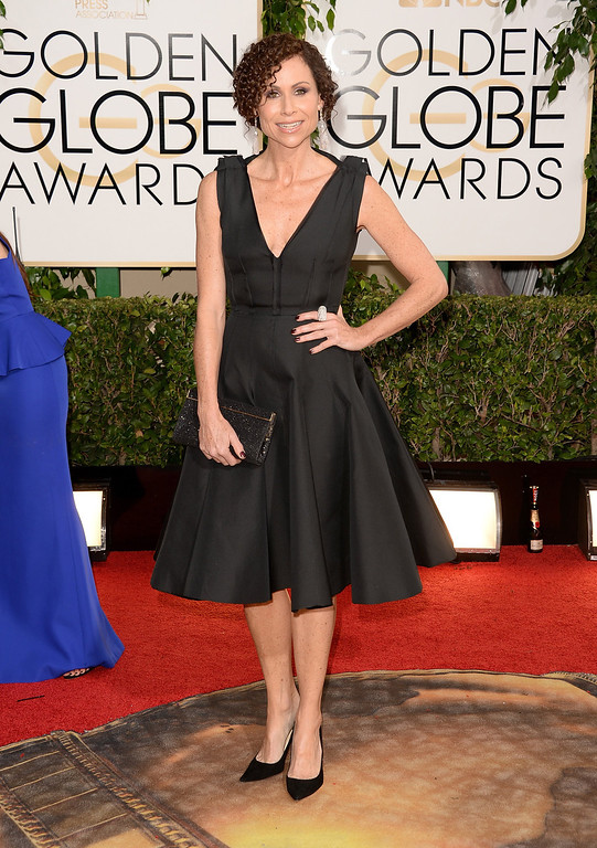 . Actress Minnie Driver attends the 71st Annual Golden Globe Awards held at The Beverly Hilton Hotel on January 12, 2014 in Beverly Hills, California.  (Photo by Jason Merritt/Getty Images)
