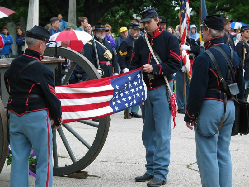 Folding and Presentation of Flag