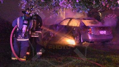 Hicksville F.D. Car Fire   Alpine Ln. 6/20/17