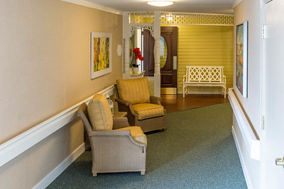 Hallways and laundry room