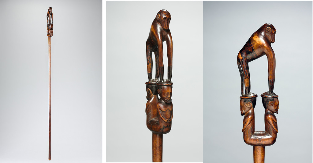 . These are three perspectives of a staff, believed to have been carved about 1900 by, an unidentified Tsonga or Zulu artist nicknamed the Baboon Master. It can be seen in the new exhibition �African Master Carvers: Known and Famous� at the Cleveland Museum of Art. The exhibit is on view in the Julia and Larry Pollock Focus Gallery through July 16. For more information, visit clevelandart.org. (Courtesy of the Cleveland Museum of Art)
