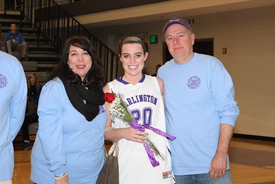 Basketball Senior Night 3 Feb 2015