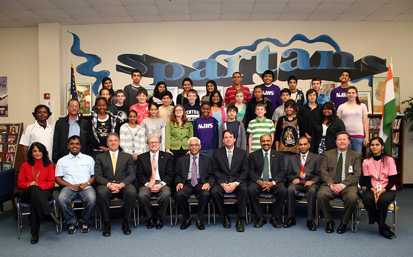 Consul General of India visits Central JH (March 2010)