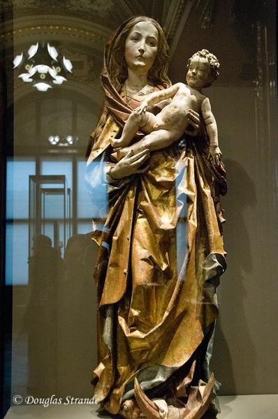 Maria mit dem Kinde by Tilman Riemenschneider  -- Carved & Painted wood, Art History Museum, Vienna