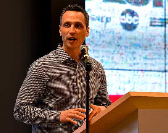 6/6/2019 Mike Orazzi | Staff ESPN President Jimmy Pitaro during the annual Team ESPN Volunteer of the Year Celebration in Bristol.