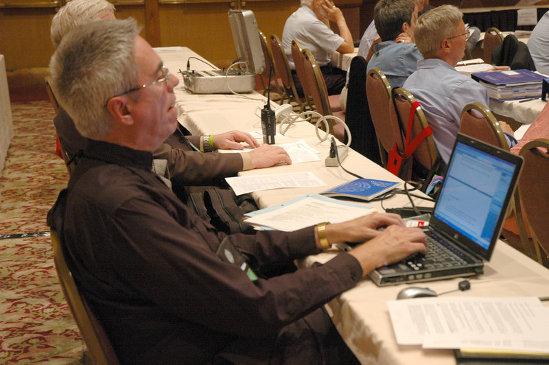Pr. Tom Weitzel, Florida Bahamas Synod staff, serves as a communication volunteer at the CWA.