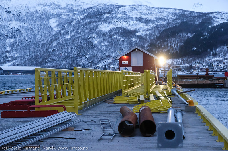 Cruisekai - Narvik havn. 11. januar 2020