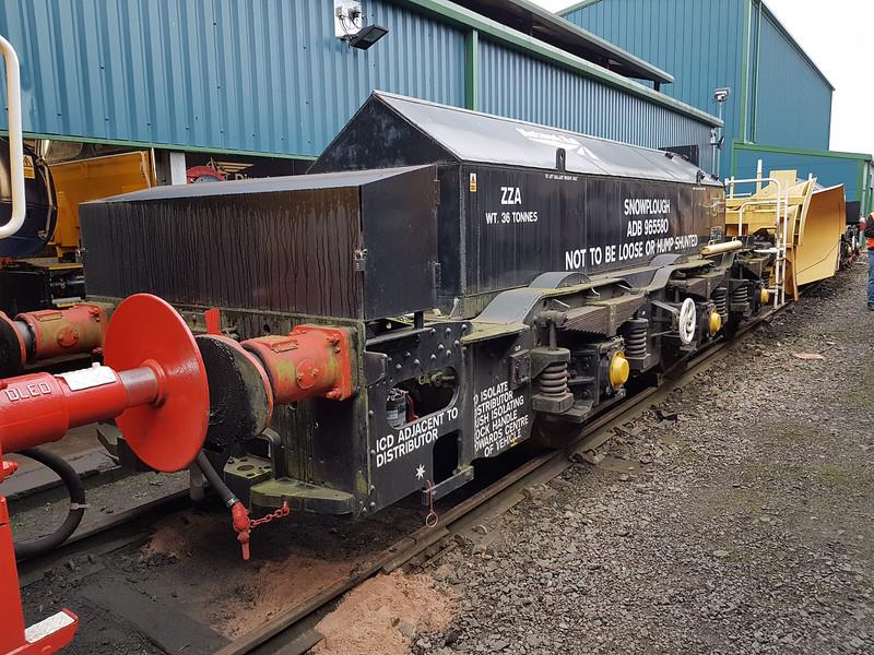 ZZA Snowplough ADB965580 ex Class 40 Bogie, Gresty Bridge  21/01/17