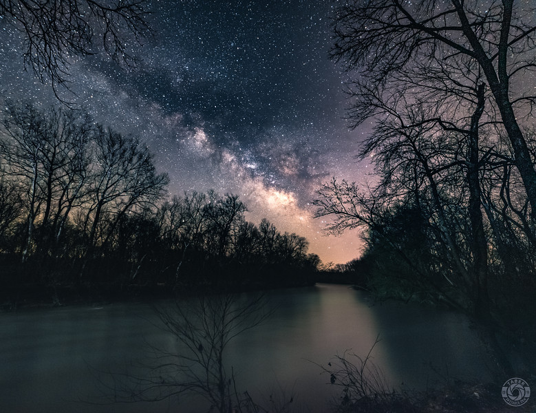 Milky Way rises over the Meremac River
