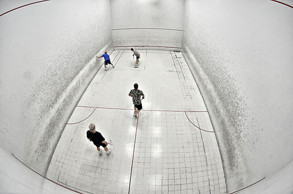 0415 exercise  I got quite a workout watching these guys play doubles squash.