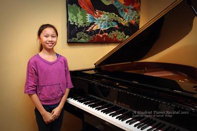 A Student Piano Recital 2012