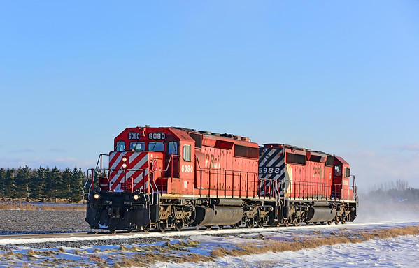 CP/D&H Work Train, Lacolle, December 19 2019.