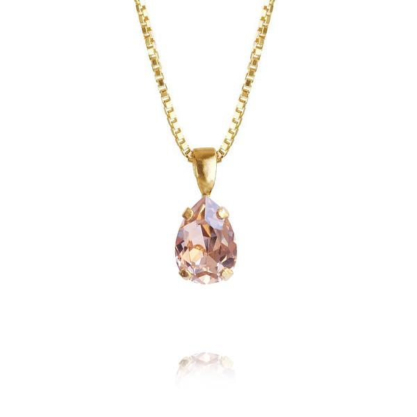 Petite Drop Necklace / Vintage Rose