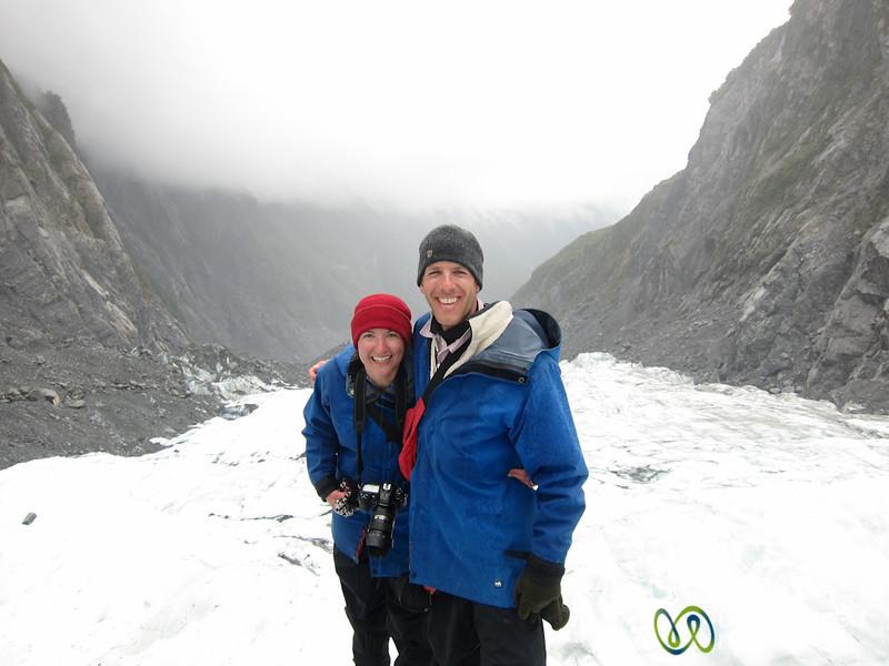 Dan & Audrey at Franz Josef Glacier - South Island, New Zealand