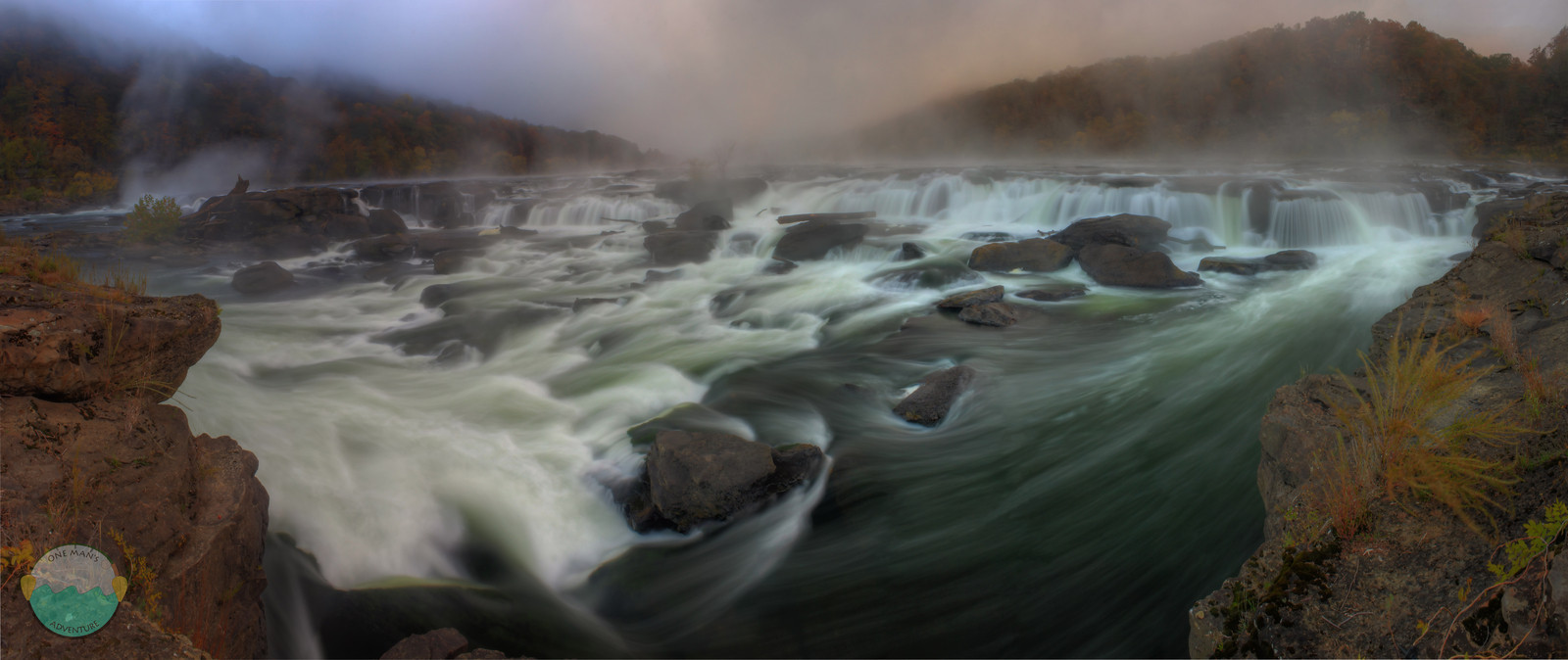 Sandstone Falls<br /> A falls on the New River near Hinton, West Virginia.