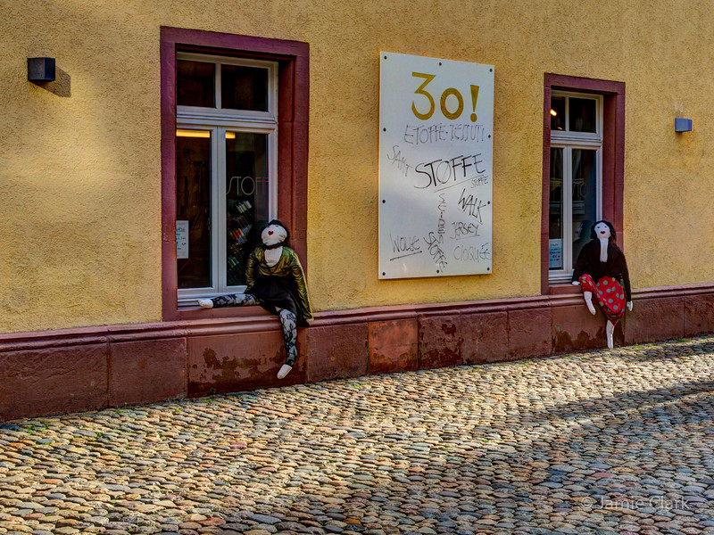 Resting mannequins. Freiburg, Germany