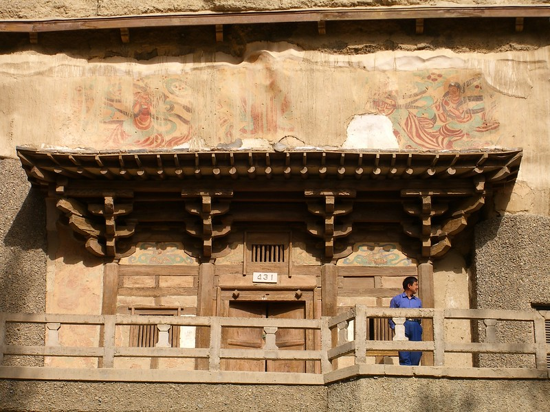Mural painting at Mogao caves - Kaitlin Lutz
