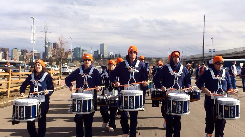 . Denver Broncos Stampede Drumline is the First Official Drumline of the NFL, established in 2003. They performed at Sports Authority Field at Mile High on Jan. 12, 2013. (Provided by Denver Broncos Stampede Drumline)