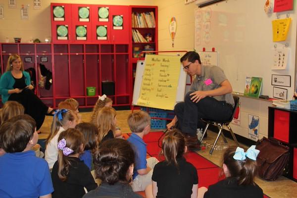 Meteorologist Tom Meiners Visits Kindergarten