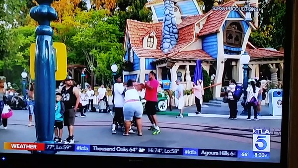 Toontown Fight KTLA news 7/8/2019
