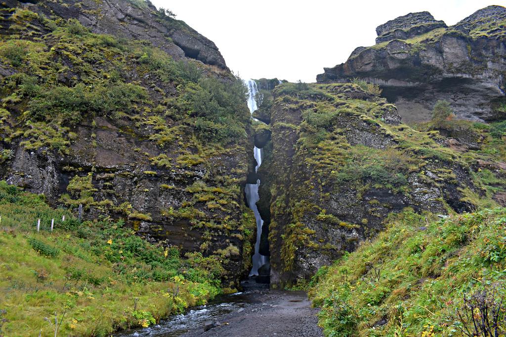 Gljúfrabúi Waterfall South Coast Iceland