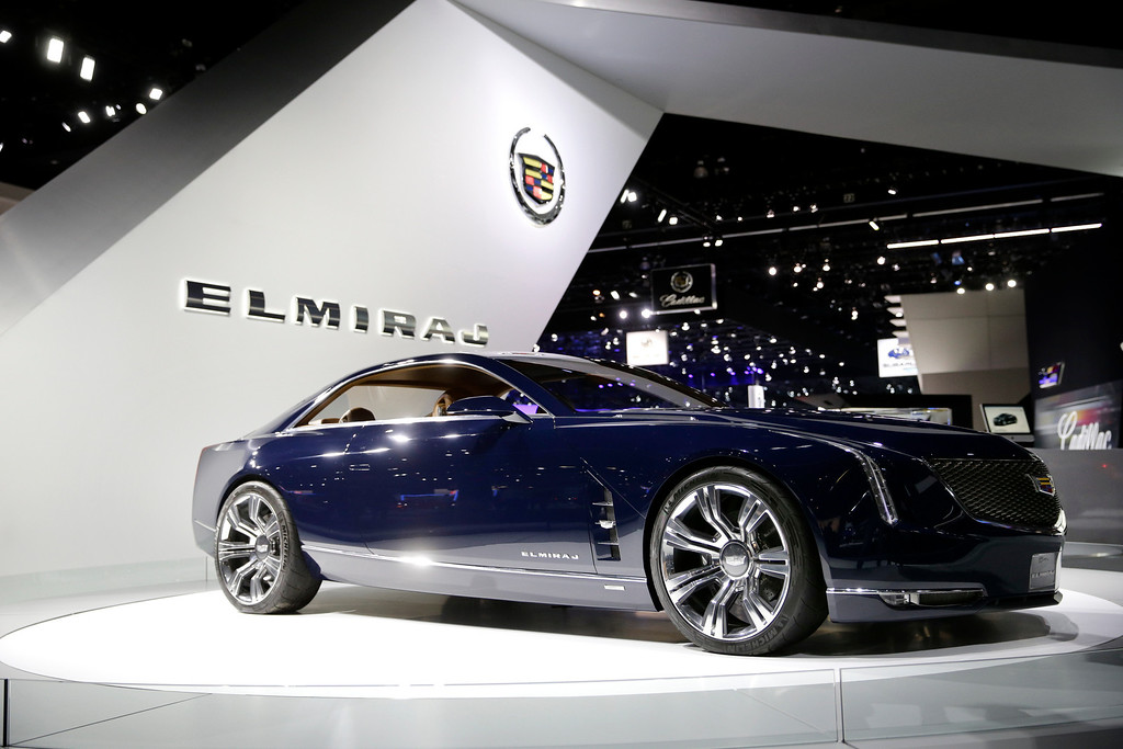 . The Cadillac Elmiraj concept car is shown at the Cadillac booth at the 2013 Los Angeles Auto Show on Wednesday, Nov. 20, 2013, in Los Angeles. (AP Photo/Jae C. Hong)
