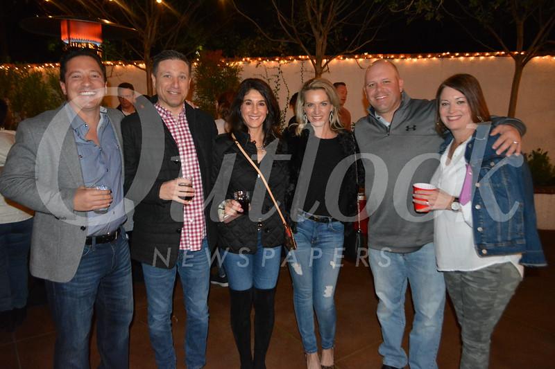 Greg Busta, Joe and Melissa Corrente, Karley Busta, and Kenny and Sheri Burns