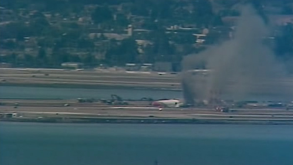 . An Asiana Airlines 777 crashed and burned at San Francisco International Airport on Saturday, July 6, 2013. (KGO TV-Channel 7)