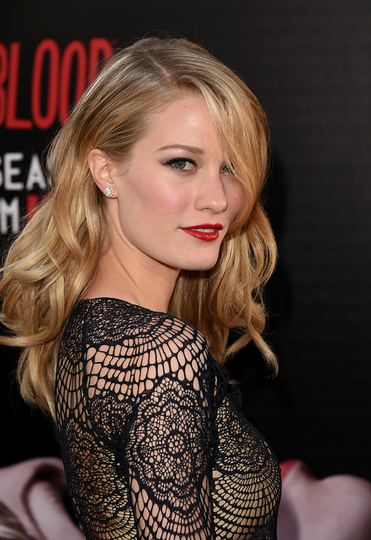 """. Actress Ashley Hinshaw attends the premiere of HBO\'s \""""True Blood\"""" season 7 and final season at TCL Chinese Theatre on June 17, 2014 in Hollywood, California.  (Photo by Jason Merritt/Getty Images)"""