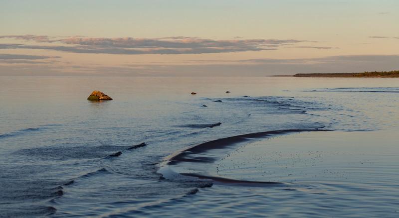 Sunlit  rock in the sea of Hailuoto