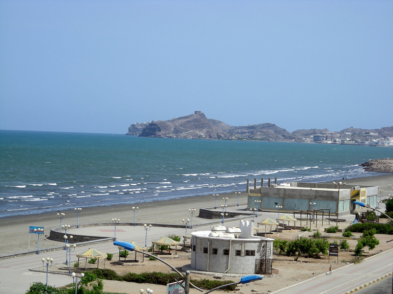 at the beach in Aden
