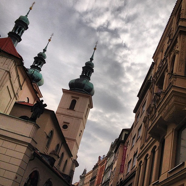 Prague, a must to look up and around, this is Old Town . #skyporn