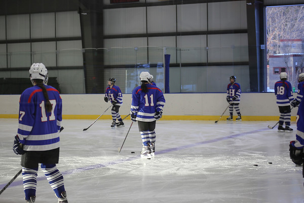 Girls' JV Hockey vs. Exeter   January 14
