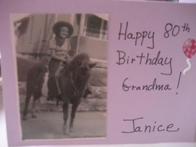 Gramma's 80th birthday!