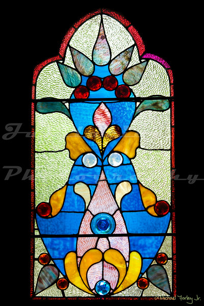 One of First Presbyterian Church of Portland's famous stained glass windows.