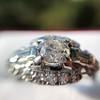 1.18ctw Art Deco Princess Halo Ring 39