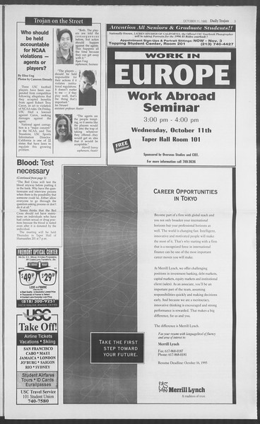Daily Trojan, Vol. 126, No. 28, October 11, 1995