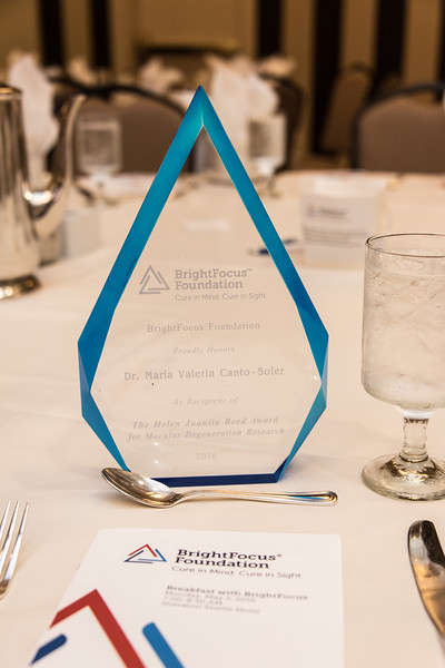 The 2016 BrightFocus Foundation Awards Breakfast in Seattle, WA