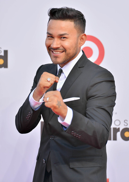 . MIAMI, FL - APRIL 25:  Frankie J arrives at Billboard Latin Music Awards 2013 at Bank United Center on April 25, 2013 in Miami, Florida.  (Photo by Gustavo Caballero/Getty Images)