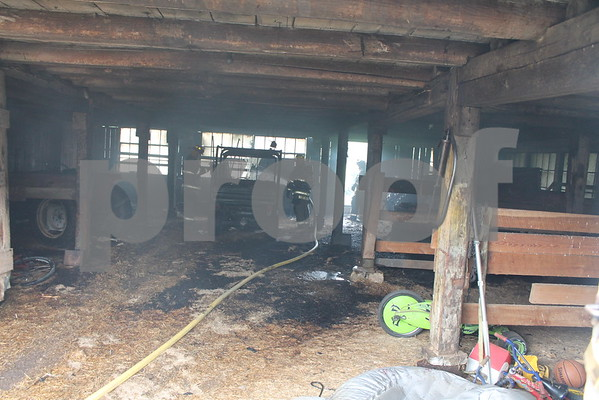 Barn Fire on Temple Hill Road - May 2015