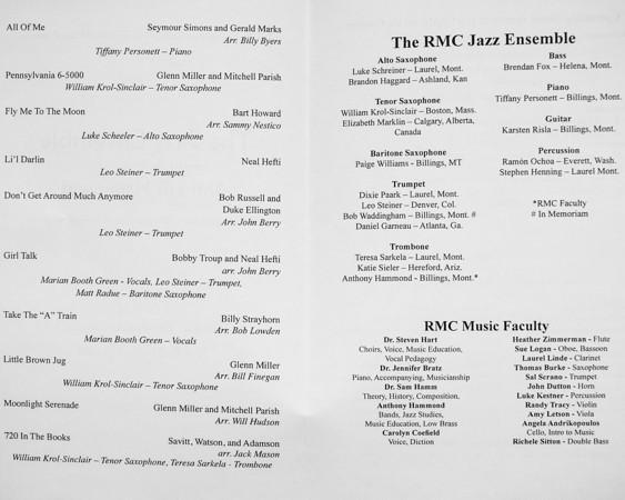 Jazz Band Fall Concert (11-26-13)