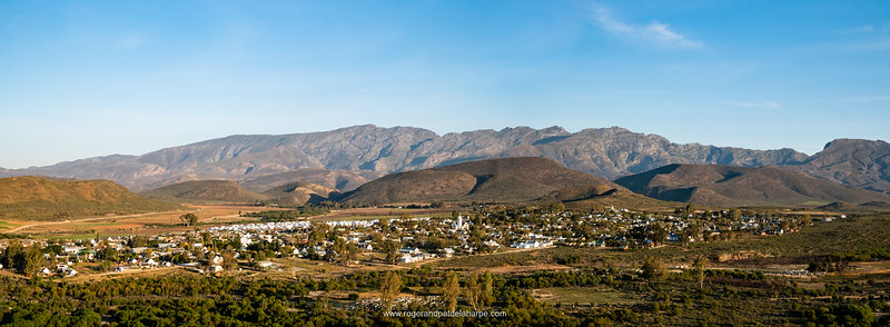 McGregor with the Riviersonderend Mountains in the background. Western Cape. South Africa