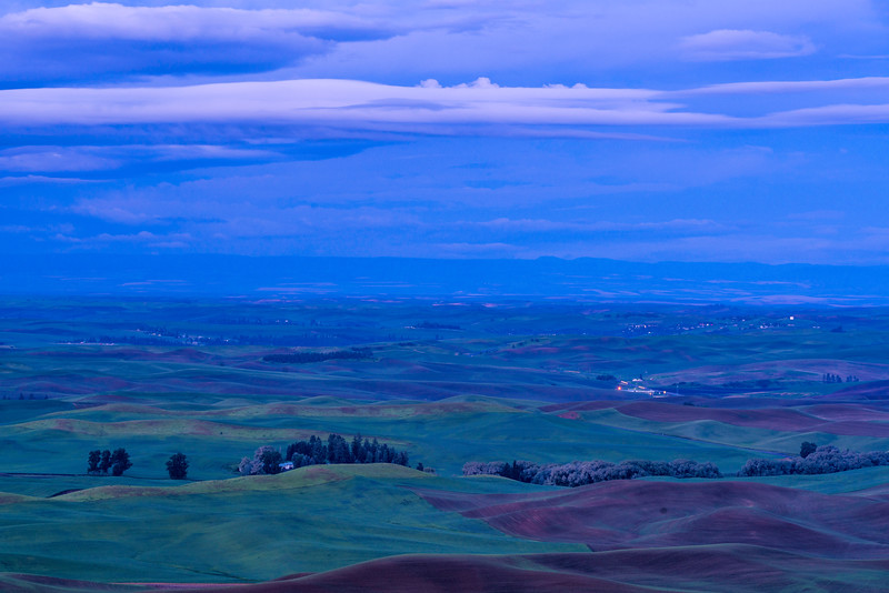 Pre-Dawn Light Over Palouse