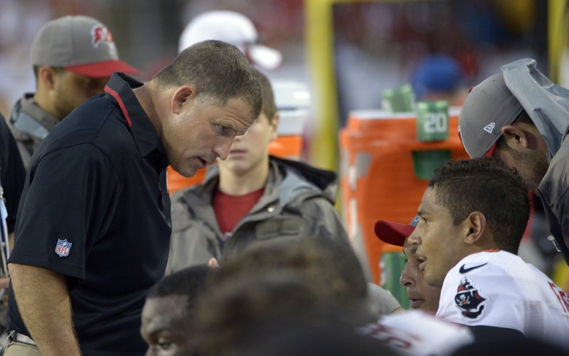 . <p><b> Buccaneers at Falcons (-7):</b>  <p>A third Tampa Bay player has been diagnosed with a dangerous MRSA infection. The rest of the players appear to be in the clear, as doctors say their non-stop nausea has been caused by exposure to douchebag coaching. <p>Pick: <b>Falcons by 10</b> <p>     (AP Photo/Phelan M. Ebenhack, File)