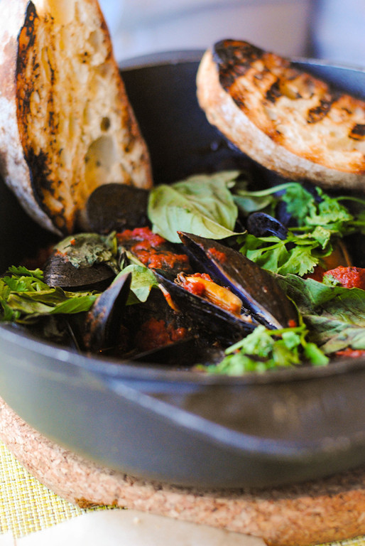 . Blue Moon Mussels at Bistro Joe\'s. Photo by Lori Yates