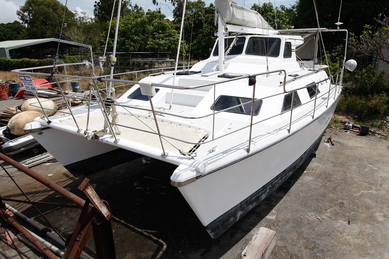 24 September 2008 Townsville, QLD - Infamous yacht Kaz II is now for sale and sits in dry dock awaiting a new owner - Photo: Cameron Laird (Ph: 0418 238811)