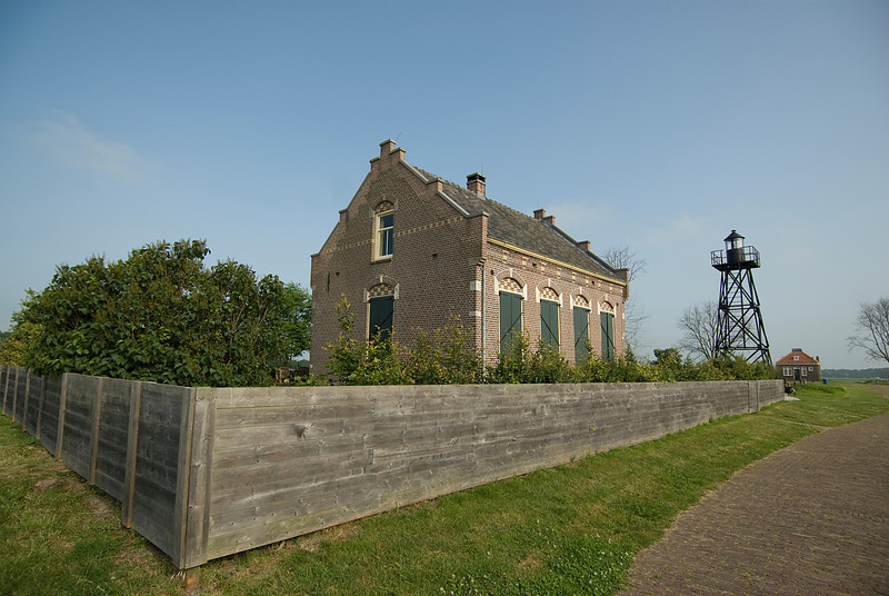 Fenced in building in Schokland, Netherlands